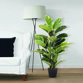 image-90Cm Artificial Ficus Elastica In Pot