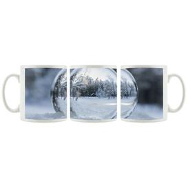 image-Ice Ball Winter Landscape Coffee Mug East Urban Home Colour: Light blue/Grey