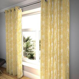 """image-Textured Chenille Mustard Yellow Curtains, 473cm(w) x 137cm(d) (186"""" x 54"""")"""