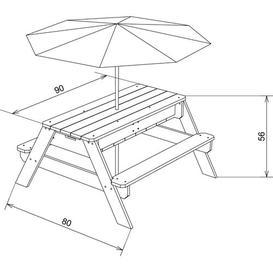 image-Delarosa Children's 4 Piece Picnic Bench Set Sol 72 Outdoor
