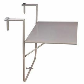 image-Asuncion Folding Steel Balcony Table Sol 72 Outdoor Colour: Grey