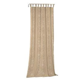 image-Pasadena Tab Top Room Darkening Curtain August Grove Colour: Brown, Panel Size: 132 W x 245 D cm