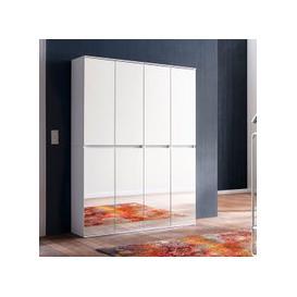 image-Cubix Mirrored Hallway Wardrobe Medium In White With 8 Doors