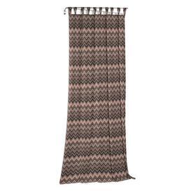image-Burbach Tab Top Blackout Single Curtain Brayden Studio Curtain colour: Brown/Black/Grey, Size: 125cm H x 65cm W