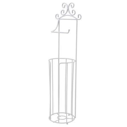 image-Maison White Free-Standing Toilet Roll Holder White
