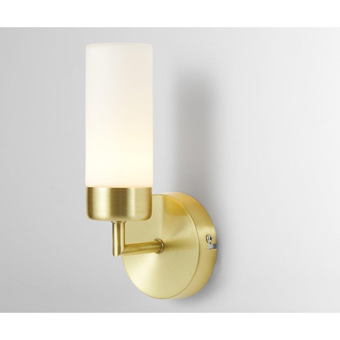image-Eddis  Bathroom Wall Lamp, Brushed Brass