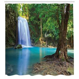 image-Waterfall Shower Curtain East Urban Home Size: 180cm H x 175cm W