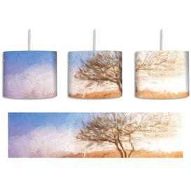 image-Tree Landscape 1-Light Drum Pendant East Urban Home