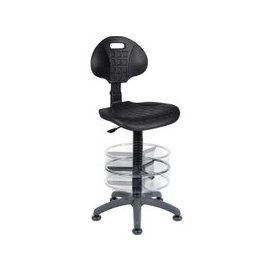 image-Gardell Poly Draughtsman Chair, Black, Free Standard Delivery