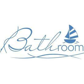 image-Bathroom, Sailboat Wall Sticker East Urban Home Colour: Light blue, Size: 73 cm W x 30 cm D