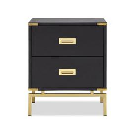 image-Liang & Eimil Genoa Side Table 2D Polished Brass Black Ash