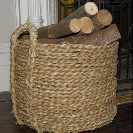 image-Log Baskets Bulrush Basket Union Rustic