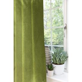 image-Symple Stuff Matt Velvet Curtains 2 Panels - Spice Orange Red Luxury Soft Made To Order Curtains & Drapes - Cotton Eyelet Fully Lined Width 228Cm (90