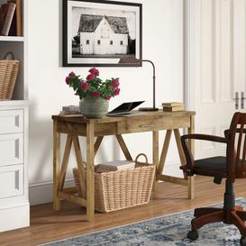 image-Ballimamore Writing desk Three Posts Colour: Barnwood/Barnwood