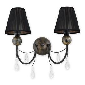 image-Falconer 2-Light Candle Wall Light Fleur De Lis Living