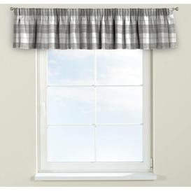 image-Edinburgh Curtain Pelmet Dekoria Size: 390cm W x 40cm L, Colour: White/Grey