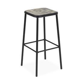 image-Wordsworth 72cm Bar Stool Sol 72 Outdoor Colour: Black