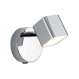 image-Quad Chrome Wall Bracket Spotlight With Square LED Head