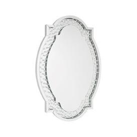 image-Alvaro Oval Bedroom Mirror In Silver
