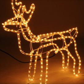 image-216 Warm White Reindeer LED String Lights Three Posts