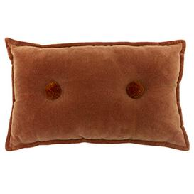 image-Rust Button Cushion