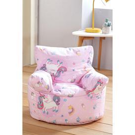 image-Kids Unicorn Bean Bag Seat
