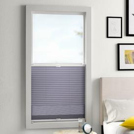 image-Blackout Pleated Blind Zipcode Design Size: 130cm L x 45cm W, Colour: Grey