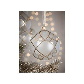 image-NEW Four Large Glittered Diamonds Baubles