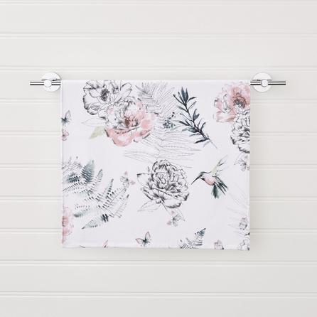 image-Heavenly Hummingbird Floral Blush Hand Towel Pink
