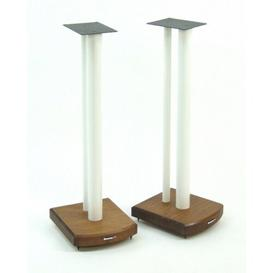 image-70cm Fixed Height Speaker Stand Symple Stuff Finish: White/Dark Bamboo