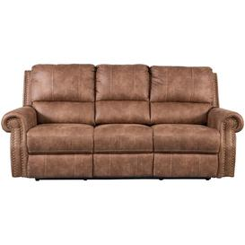 image-Sweet Dreams Wye 3 Seater Tan Fabric Recliner Sofa