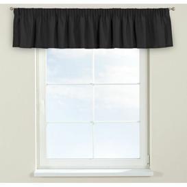 image-Panama Curtain Pelmet Dekoria Size: 130cm W x 40cm L, Colour: Dark grey