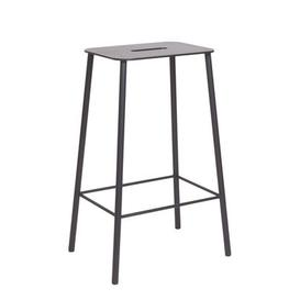image-Adam Outdoor High stool - / H 65 cm by Frama Black