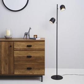 image-Harme 2 Light Black Touch Dimmable Floor Lamp Black