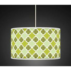 image-Polyester Drum Shade Fairmont Park Colour: Green, Size: 22cm H x 40cm W x 40cm D, Type: Ceiling/Wall