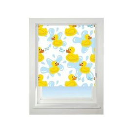 image-Universal 180cm Yellow & Blue Floral Quack Quack Blackout Roller Blind