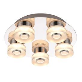 image-Orah 4.5W LED RGB bathroom flush ceiling light - 5-light dimmable chrome â 90634.