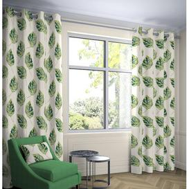 image-Bolen Room Darkening Eyelet Thermal Curtains Ebern Designs Colour: Forest Green, Panel Size: Width 228 x Drop 182 cm, Light Filtration/Thermal: Room D