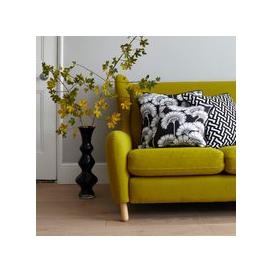 image-Florence Broadhurst Zig Zag Cotton Cushion (colour: Black, size: 50x50cm)