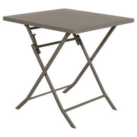 image-Nifleim Folding Steel Bistro Table Sol 72 Outdoor Colour: Brown