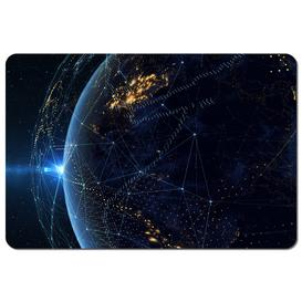 image-Latrell Connection Lines Around Earth Globe Placemat
