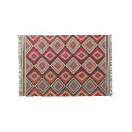 image-woollen woven rug, multicoloured 140 x 200cm
