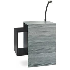image-Queens 2 Drawer Bedside Table Vladon Colour (Frame / Table Top): Avola anthracite, Features: With LED spotlight