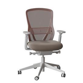 image-Dalton Ergonomic Mesh Task Chair Senator Frame Colour: Light Grey, Colour: Black Mesh, Upholstery Colour: Momentum Origin Arundel