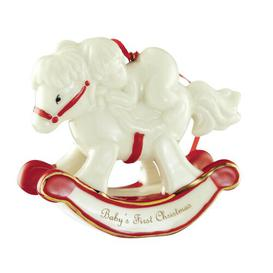 image-Christmas Baby's First Christmas Rocking Horse Ornament Belleek Home