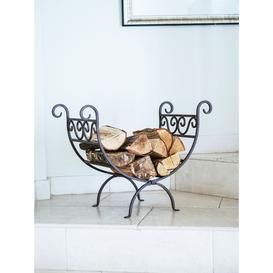 image-Ivyline Vintage Iron Fireplace Log Holder