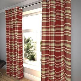 "image-Heritage Red + White Tartan Curtains, 116cm(w) x 800cm(d) (46"" x 315"")"
