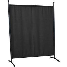 image-178cm x 178cm 1 Panel Room Divider Symple Stuff Colour: Anthracite