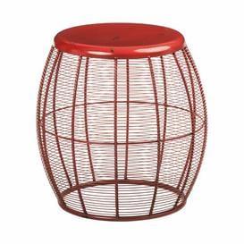image-Craybrough Accent Stool Borough Wharf Colour: Red