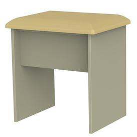 image-Lyman Dressing Table Stool Marlow Home Co. Colour (Frame): Mushroom